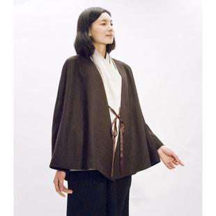 sl 36w 现代汉服女装 秋冬款 外套尺码:l 颜色:棕色图片