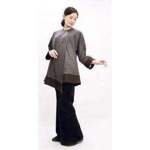 sl37w 女装 现代汉服 秋冬款 外套颜色:浅灰色 尺码:m图片