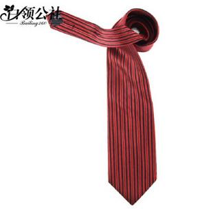 白领公社 好的哇 王者归来系列 男士正装商务 桑蚕丝 竖条纹 结婚领带