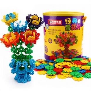 科博 加厚雪花片 建构拼插塑料积木 立体拼图 儿童桌面益智玩具 800片桶装 51比购返利网购物比价