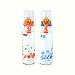 NUK240ml耐高温玻璃彩色奶瓶