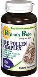 普瑞登Puritan's Pride天然复合蜂王浆蜂花粉蜂胶片