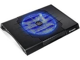 TT Massive23 ST CLN0009 笔记本散热器 23CM 静音 铁制网 蓝LED