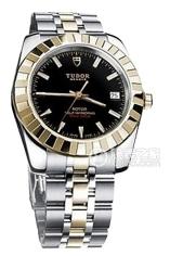 帝舵经典系列21013-62583黑腕表