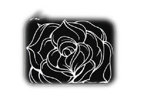 黑贝壳 笔记本电脑内胆包 黑玫瑰-9寸