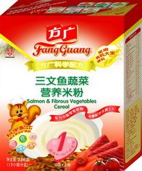 方广Fangguang三文鱼蔬菜营养米粉 228g