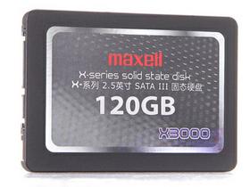 麦克赛尔 X3000系列 120G 2.5英寸 SATA-3固态硬盘(MX-SSD-X3000-120GB)