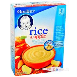 嘉宝Gerber婴儿混合谷物苹果味米粉 227g