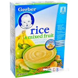 嘉宝Gerber2段混合水果谷物米粉 227g
